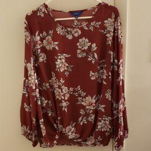 Womens Apt 9 knot front blouse size XXL